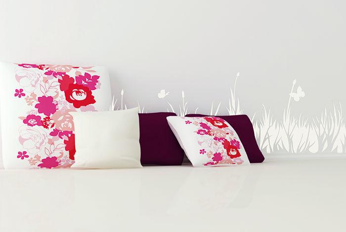 pochoir herbes folles frise pochoirs peintures. Black Bedroom Furniture Sets. Home Design Ideas