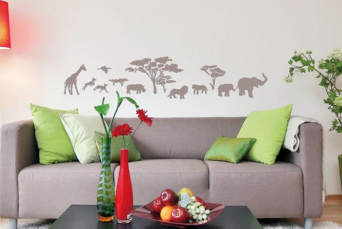 pochoir savane frise pochoirs peintures. Black Bedroom Furniture Sets. Home Design Ideas