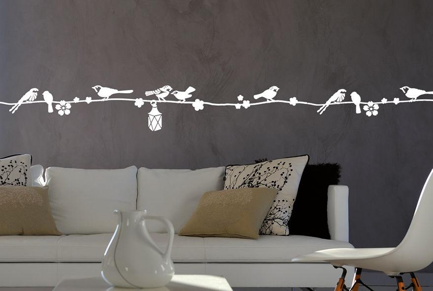 pochoir sur le fil frise pochoirs peintures. Black Bedroom Furniture Sets. Home Design Ideas