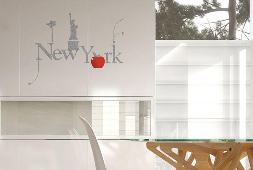 pochoir big apple l pochoirs peintures. Black Bedroom Furniture Sets. Home Design Ideas