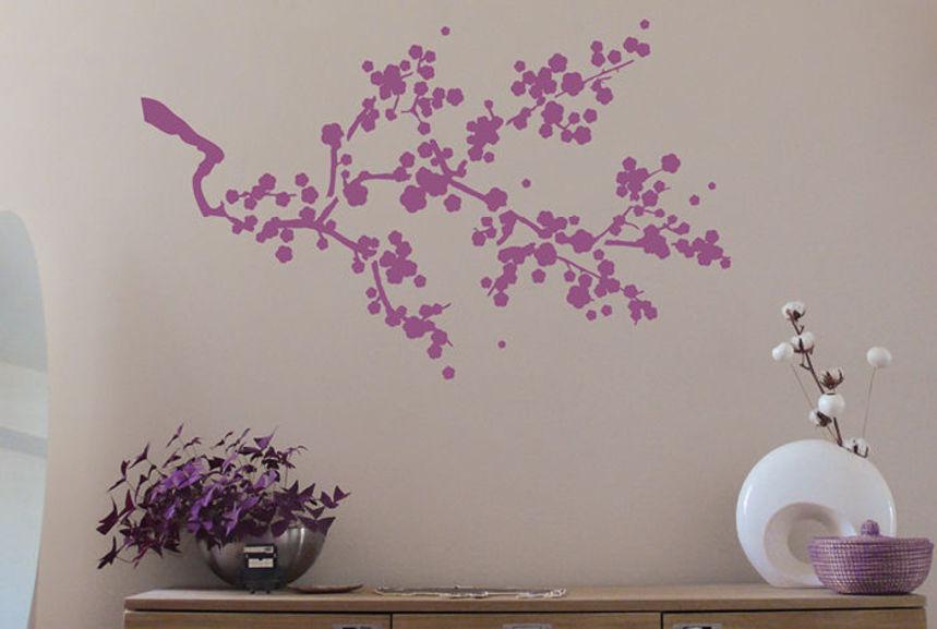 Pochoir Cerisier Japonais  L  Pochoirs  Peintures