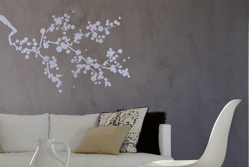 pochoir cerisier japonais l pochoirs peintures. Black Bedroom Furniture Sets. Home Design Ideas