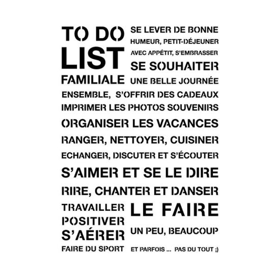 Pochoir L - To Do List