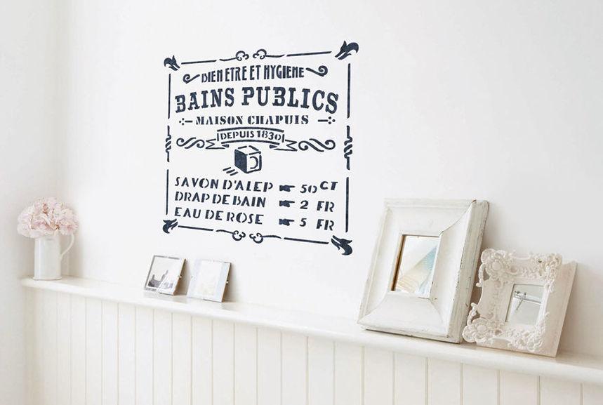 pochoir douche d 39 antan s pochoirs peintures. Black Bedroom Furniture Sets. Home Design Ideas