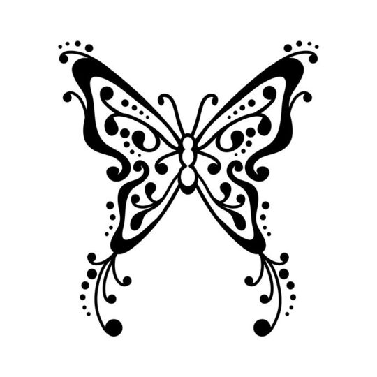 Pochoir S - Papillon tatoo