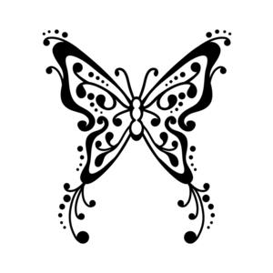 Pochoir s papillon tatoo - Pochoir ciel etoile ...