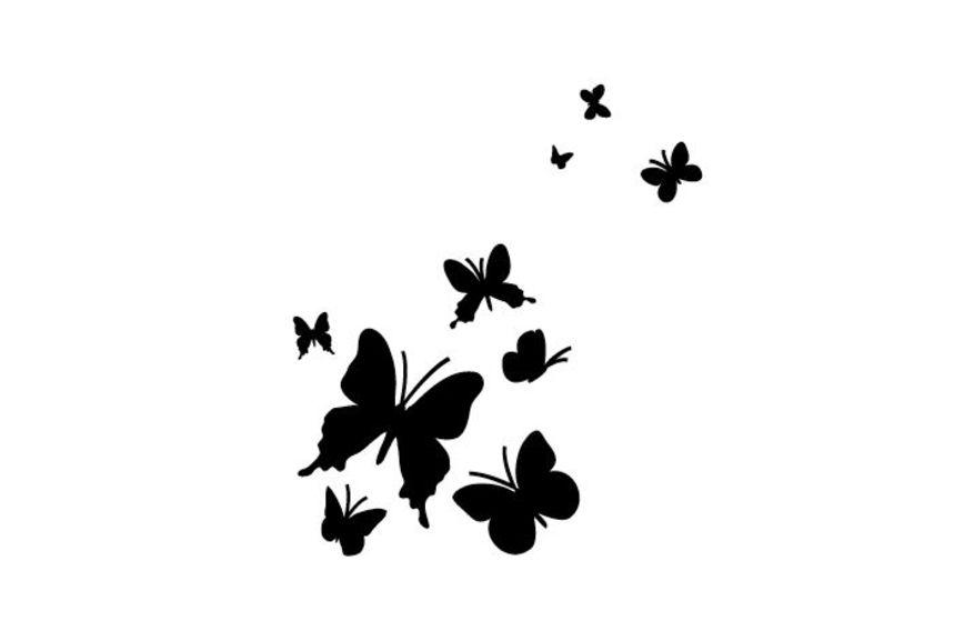 pochoir papillons s pochoirs peintures. Black Bedroom Furniture Sets. Home Design Ideas