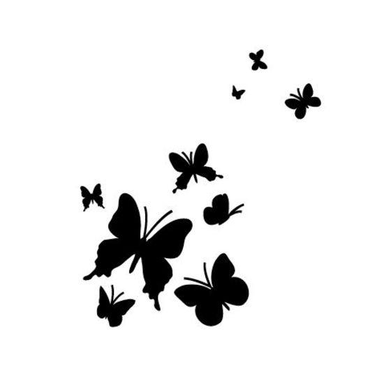 Pochoirs et peintures maison d co - Modele de papillon ...
