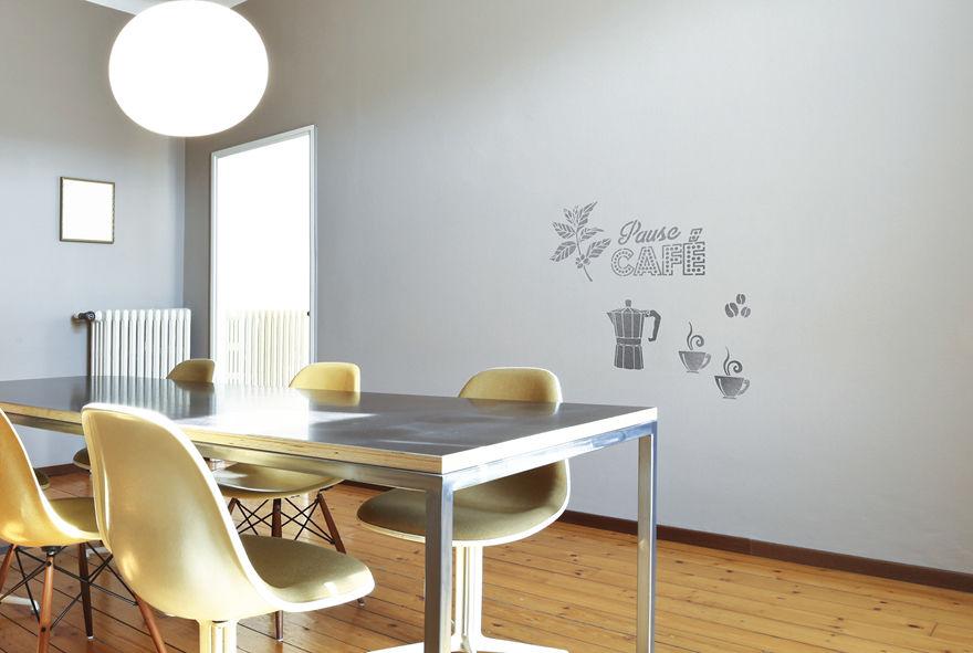 pochoir pause caf s pochoirs peintures. Black Bedroom Furniture Sets. Home Design Ideas