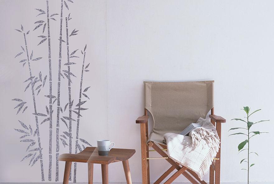 Pochoir bambou xl pochoirs peintures for Pochoir peinture