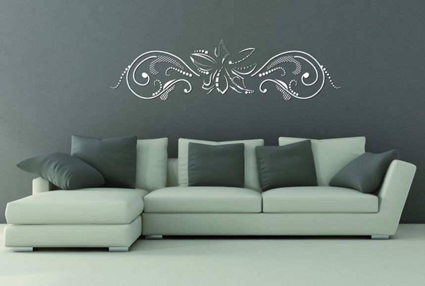 pochoir fleur graphic xl pochoirs peintures. Black Bedroom Furniture Sets. Home Design Ideas