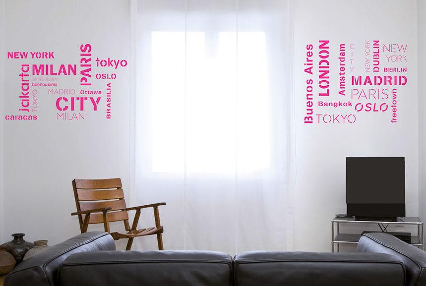 pochoir villes du monde xl pochoirs peintures. Black Bedroom Furniture Sets. Home Design Ideas