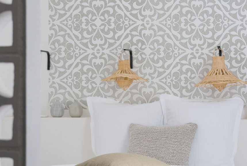 pochoir zellige xl pochoirs peintures. Black Bedroom Furniture Sets. Home Design Ideas