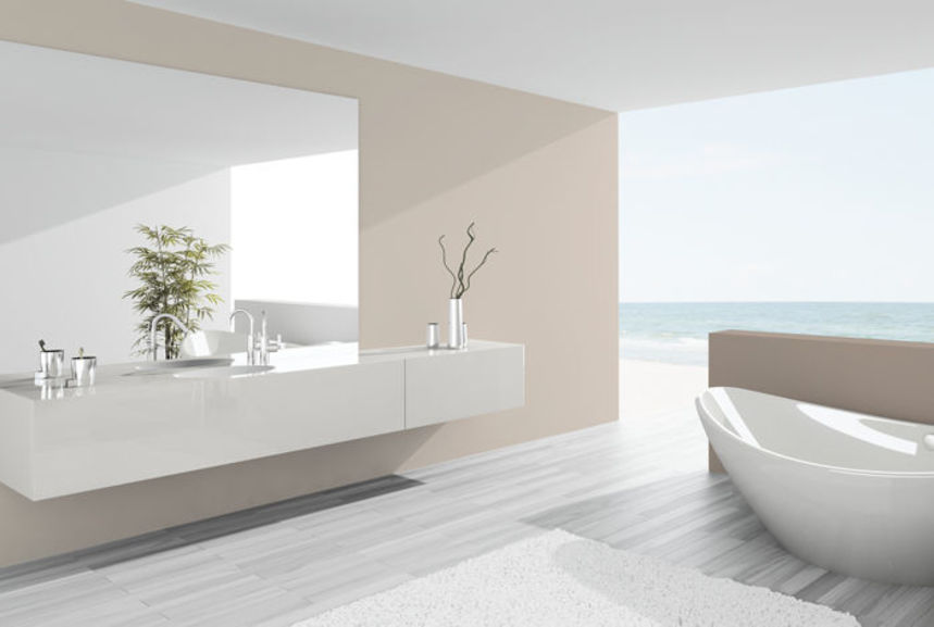 salle de bain bleu marine et beige id es de d coration. Black Bedroom Furniture Sets. Home Design Ideas